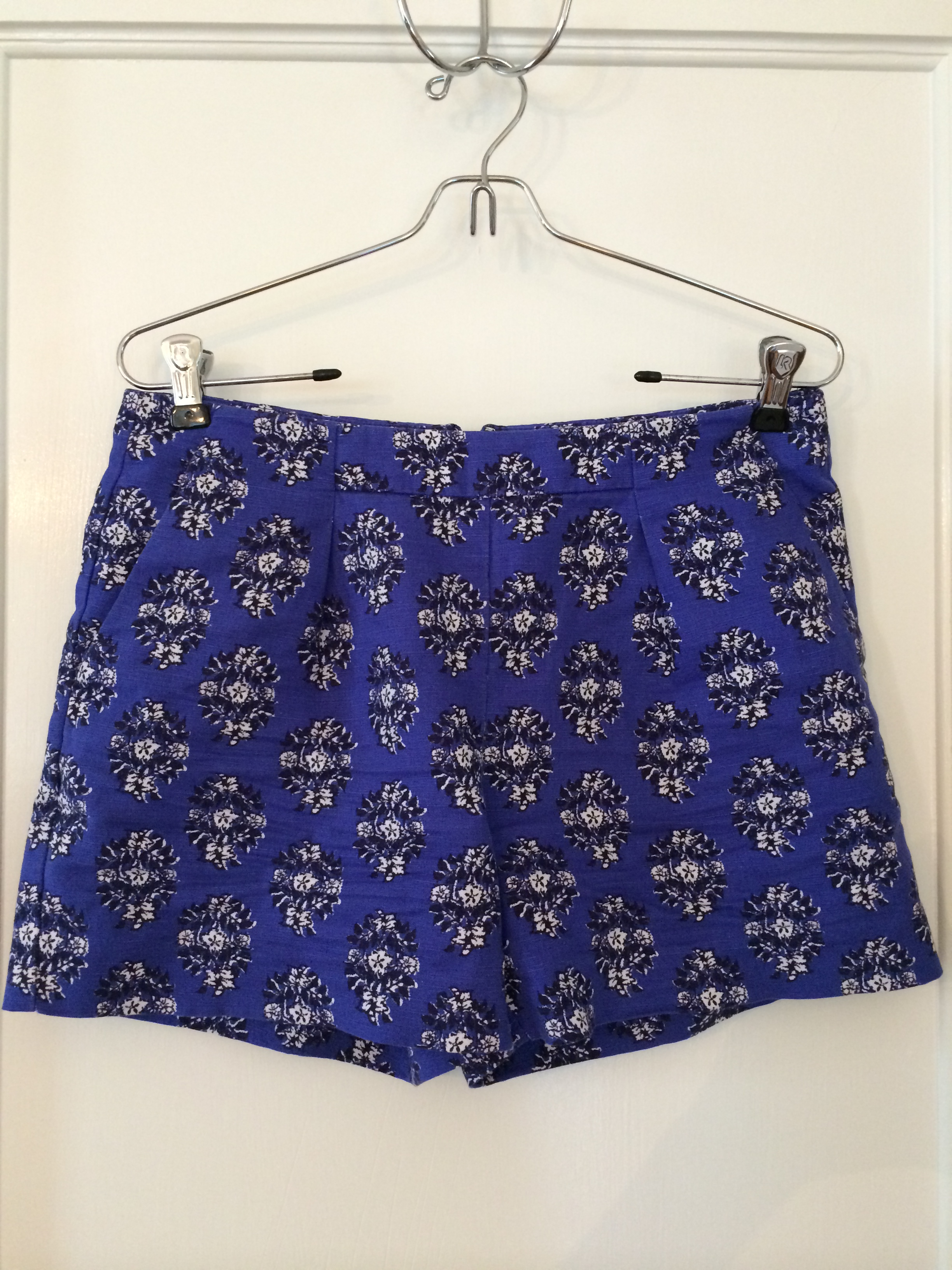 BlueHighWaistShorts