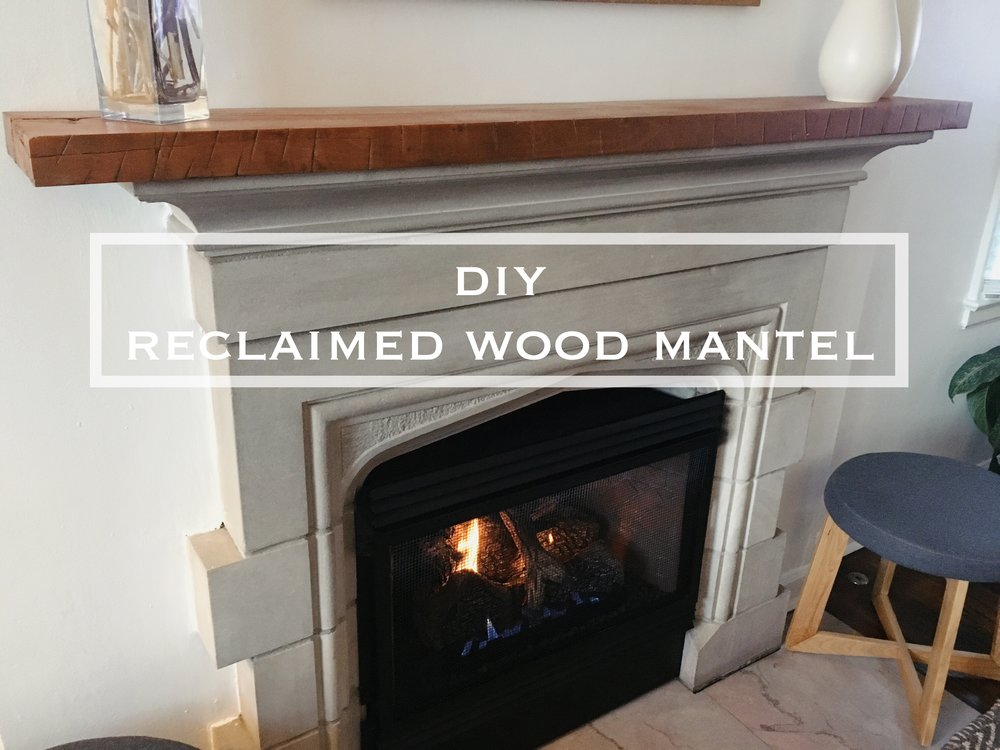 Diy Reclaimed Wood Mantel My Simply Simple