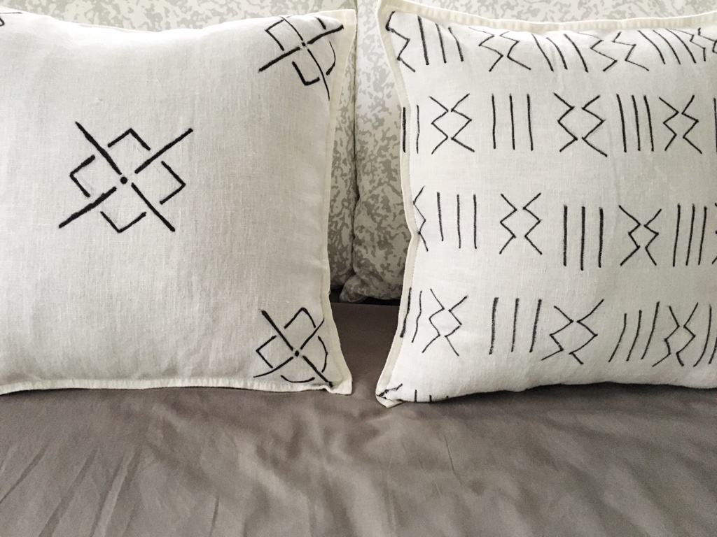 DIY Mud Cloth Pillow Cover