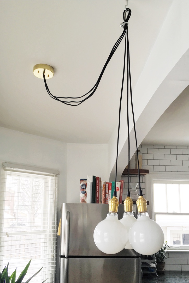 Lighting DIY | Kitchen Nook Chandelier
