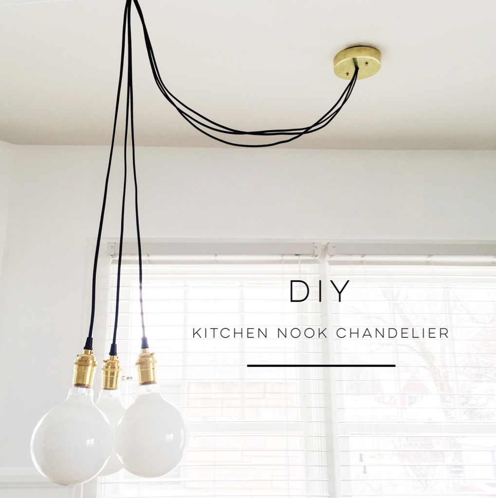 Lighting Diy Kitchen Nook Chandelier My Simply Simple