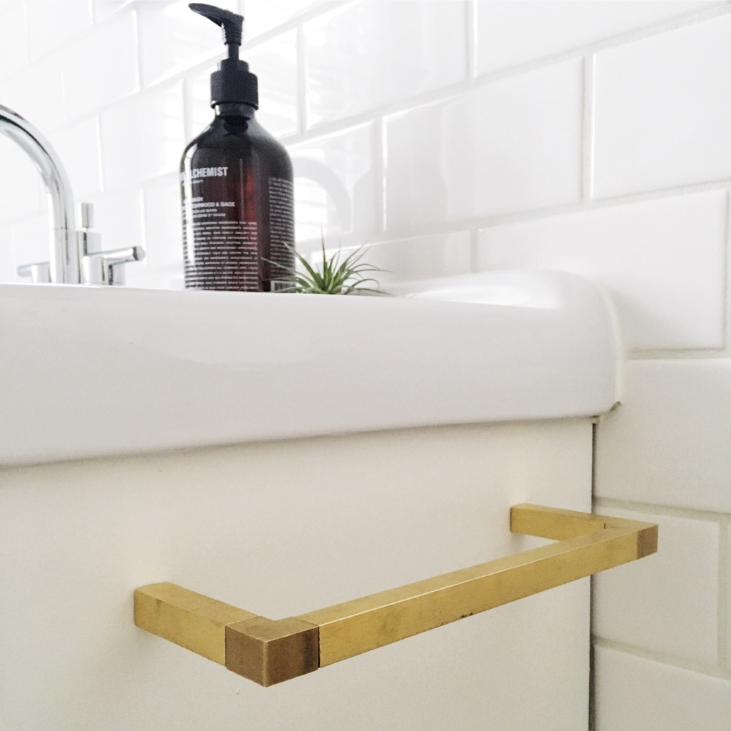 DIY Modern Brass Hardware