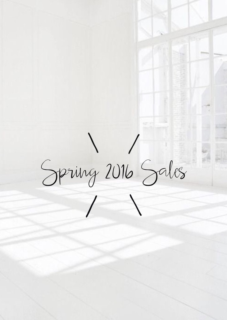Spring 2016 Sales