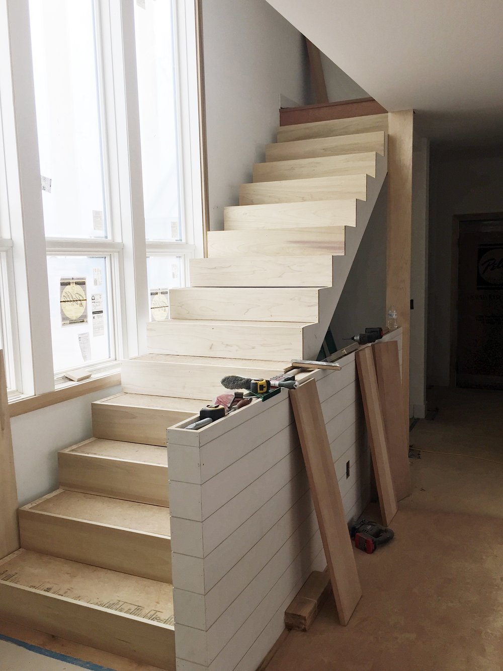 Tyler Stopped By Again On Wednesday To Find The Stair Treads (the Part You  Walk On) Installed And Looking AWESOME. The Treads Overhand The Stairs By A  Few ...