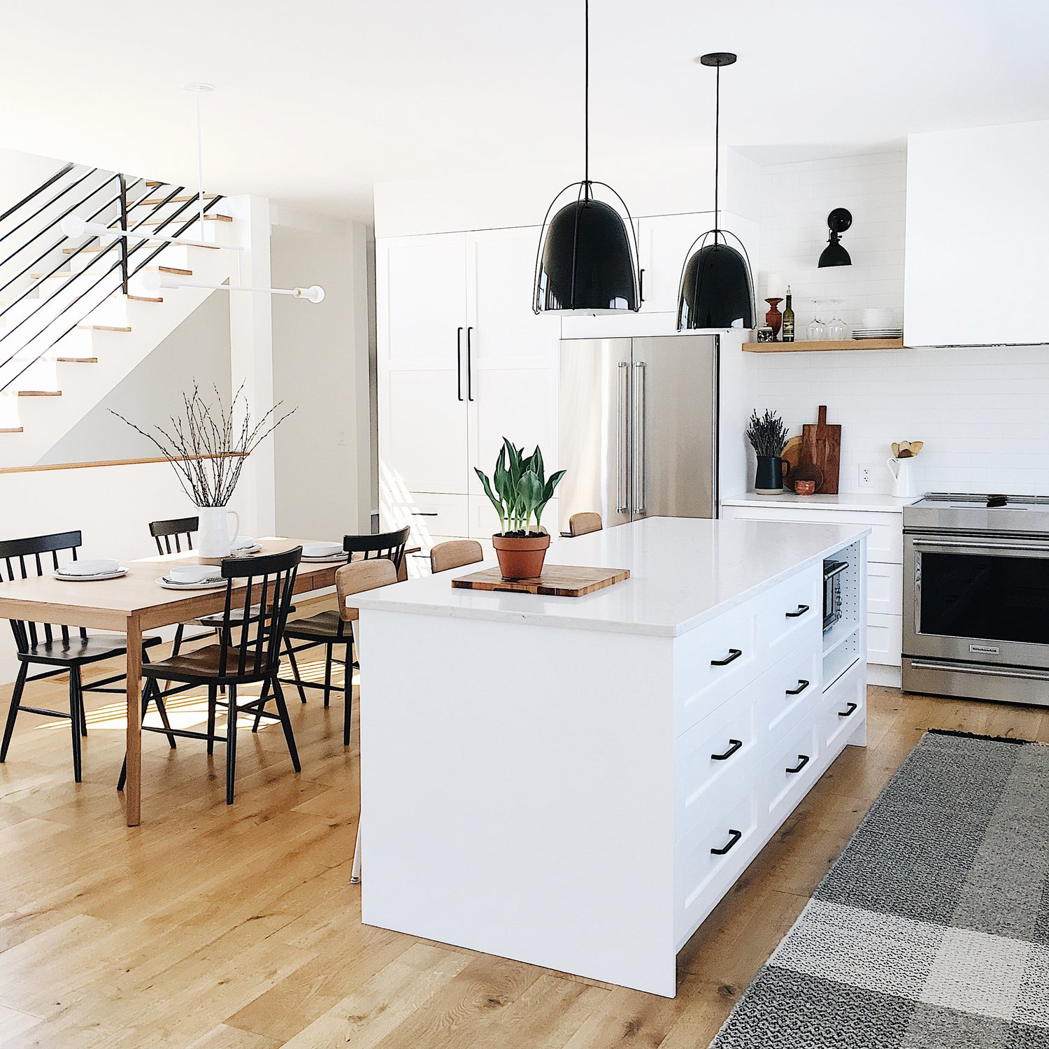 The modern farmhouse one year after the build