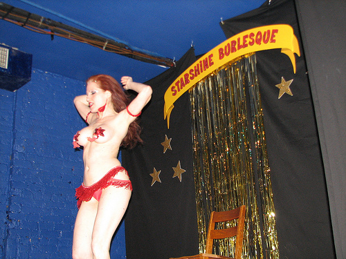 Jo Boobs at the Starshine Burlesque