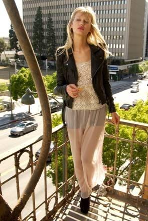 see-through maxi skirt