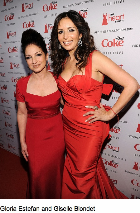 gloria estefan and giselle blondet red dress