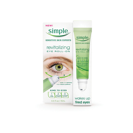 simple skincare eye roll on