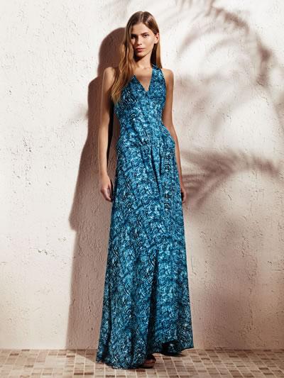 khols v-neck maxi dress