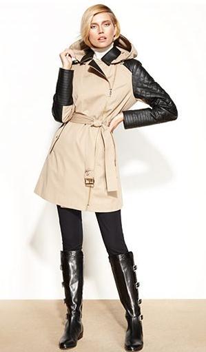 mixed media coat