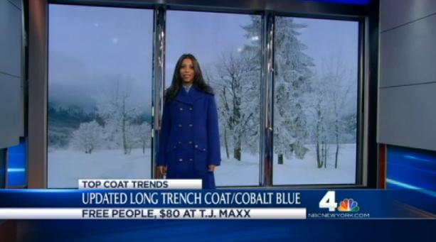 cobalt trench coat