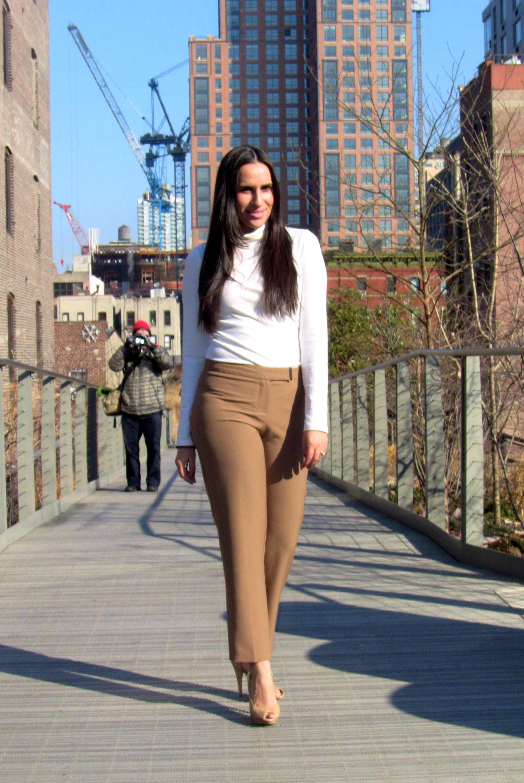 white caramel fashion blog