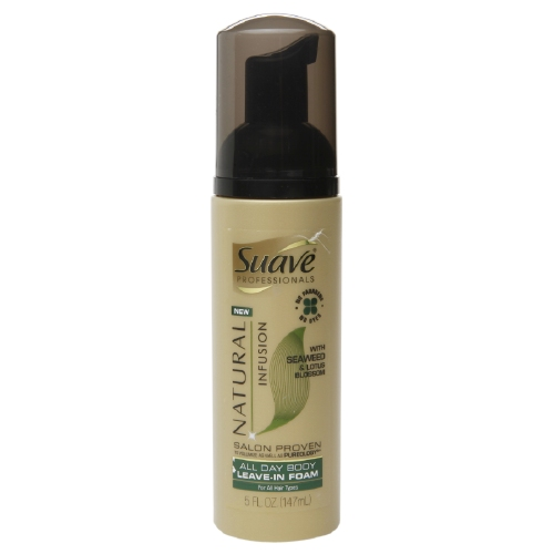 suave infusion leave in foam