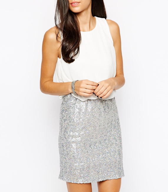 winter white and sequins