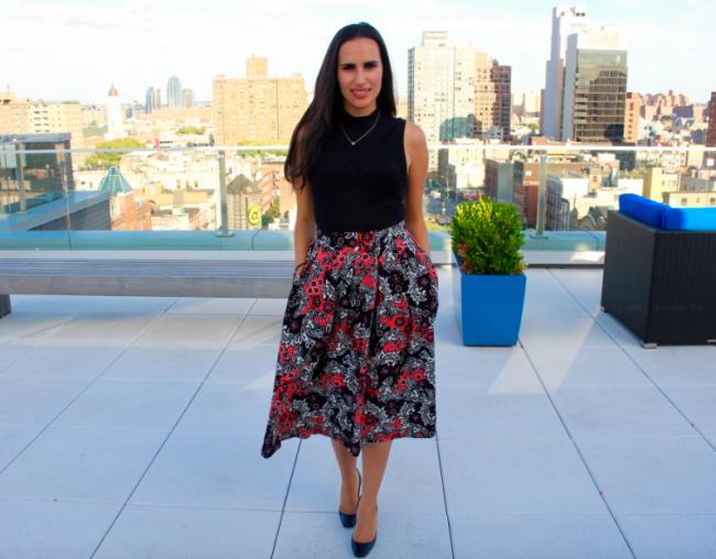 style blog floral midi skirt
