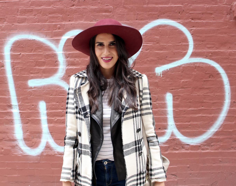 burgundy blogger hat