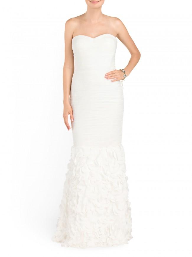strapless t.j. maxx wedding dress