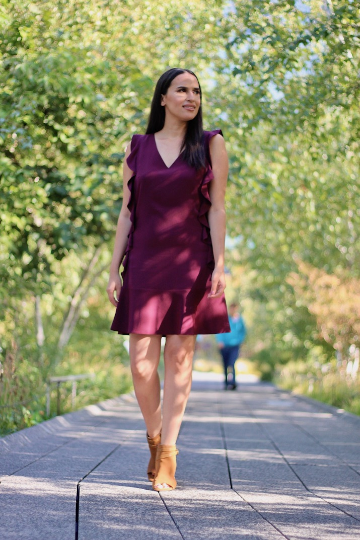 plum dress fall fashion