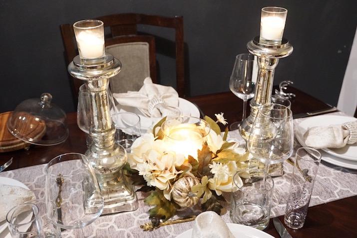 candlelit dinner thanksgiving