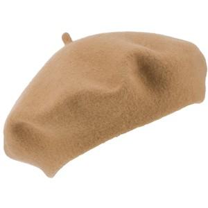 john lewis woman wool beret camel
