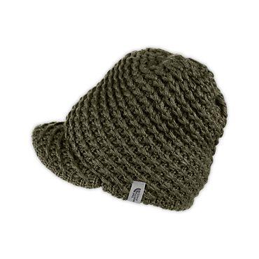 northface knit visor beanie