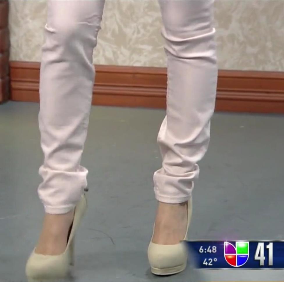 pastel pink jeans