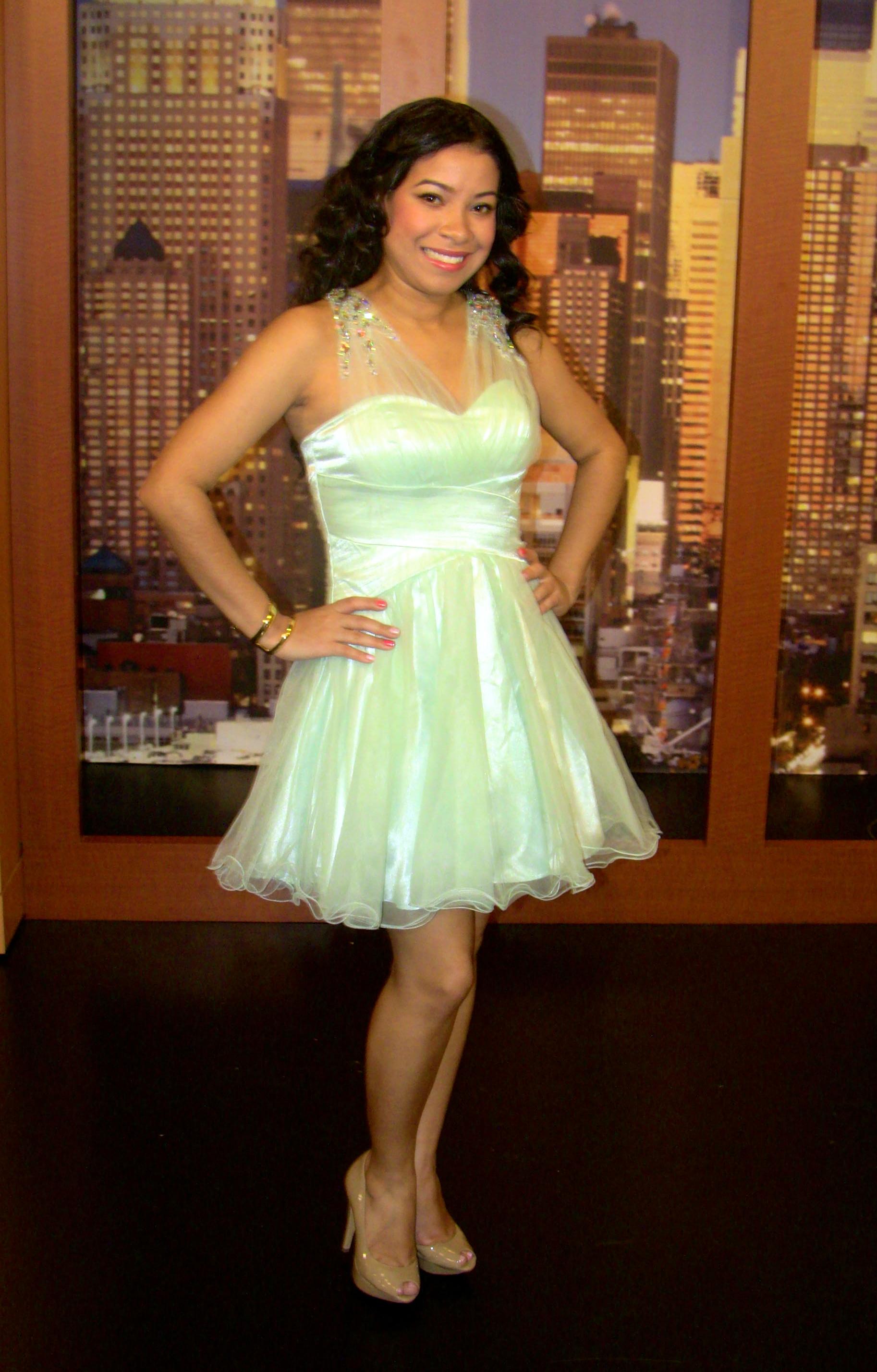 mint short prom dress macys