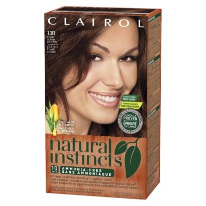 clairol natural instincts hair dye