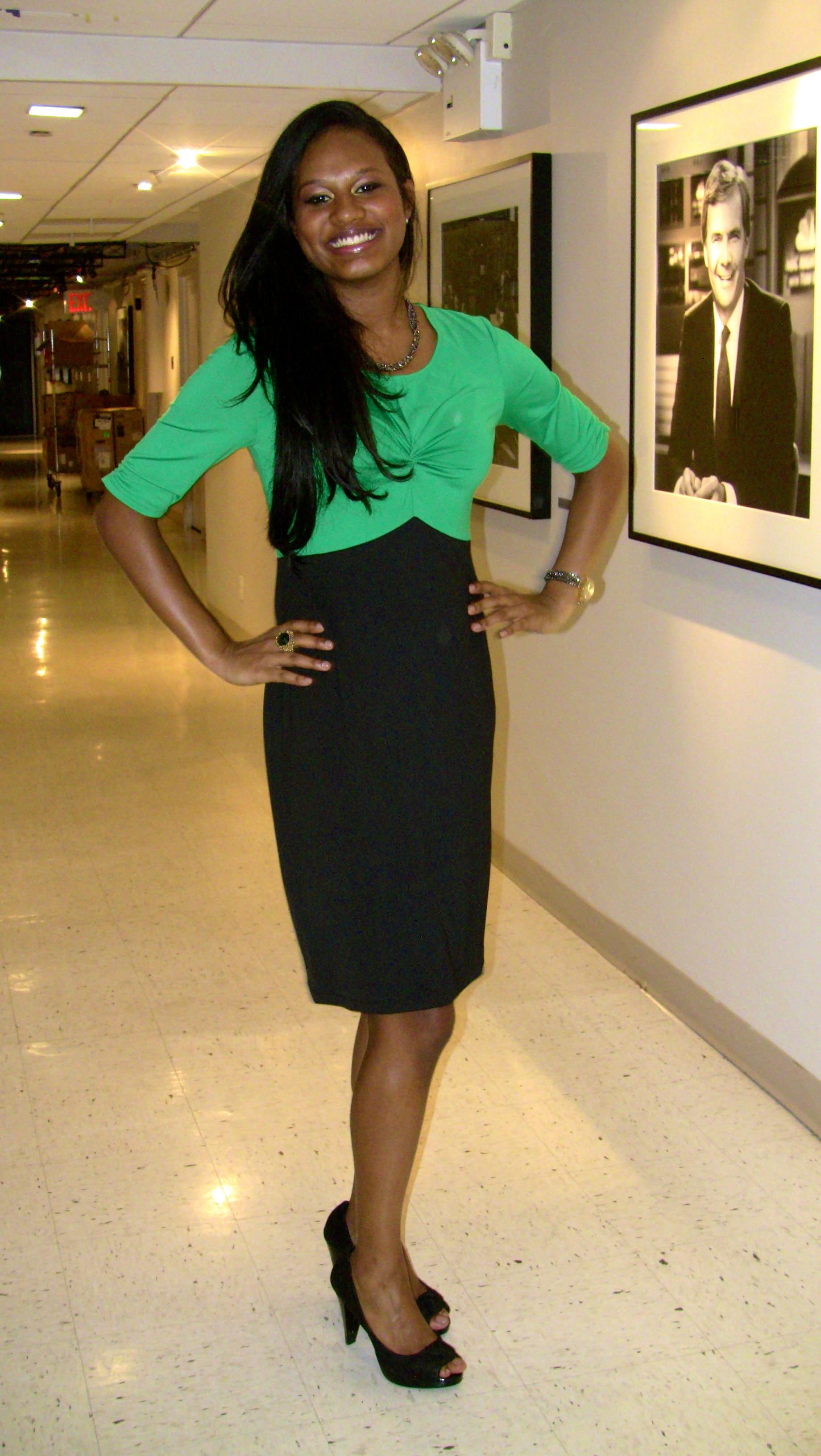 green and black dress avon