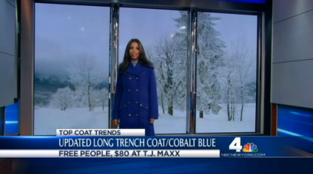 cobalt trench coat
