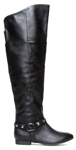 shoedazzle anay black boots