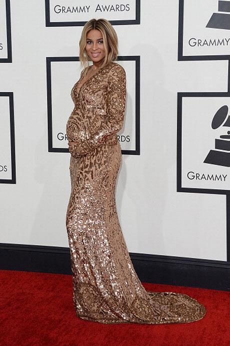 ciara grammys 2014 metallic