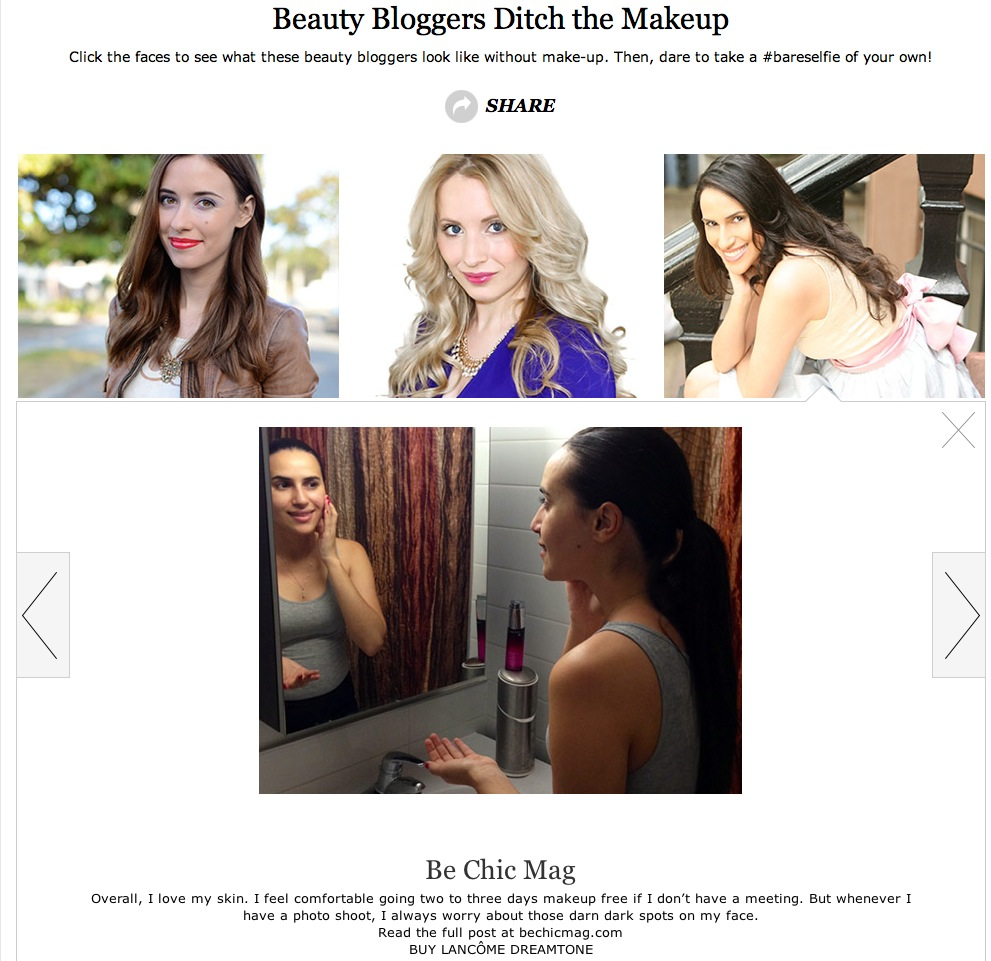marie claire beauty blogger