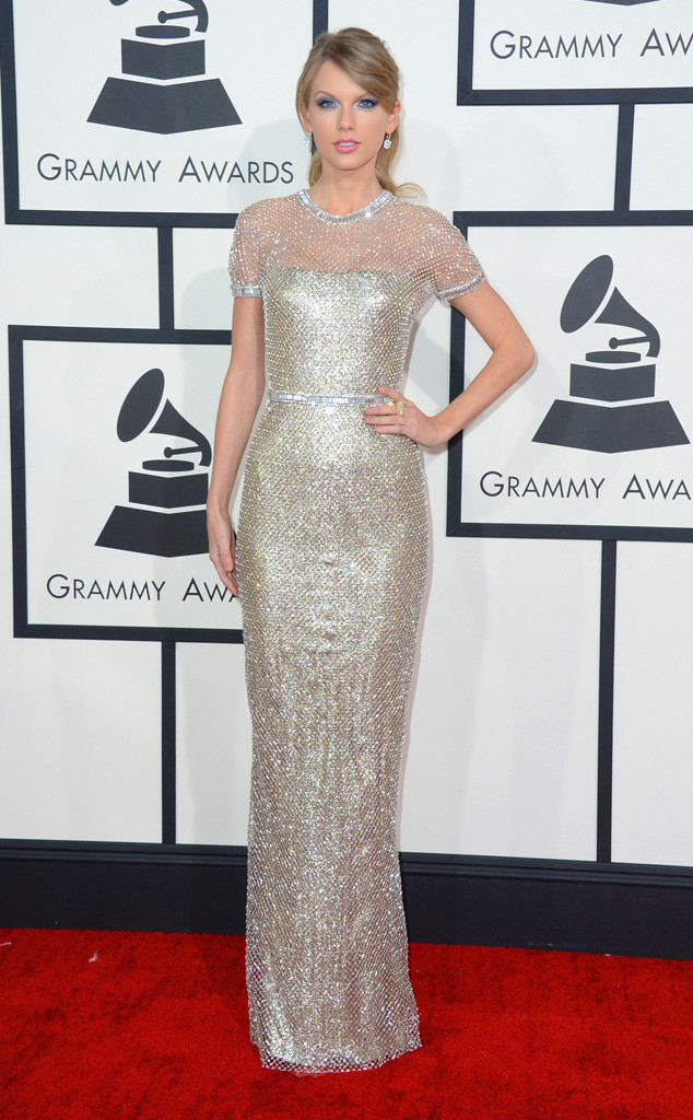 taylor swift grammys metallic