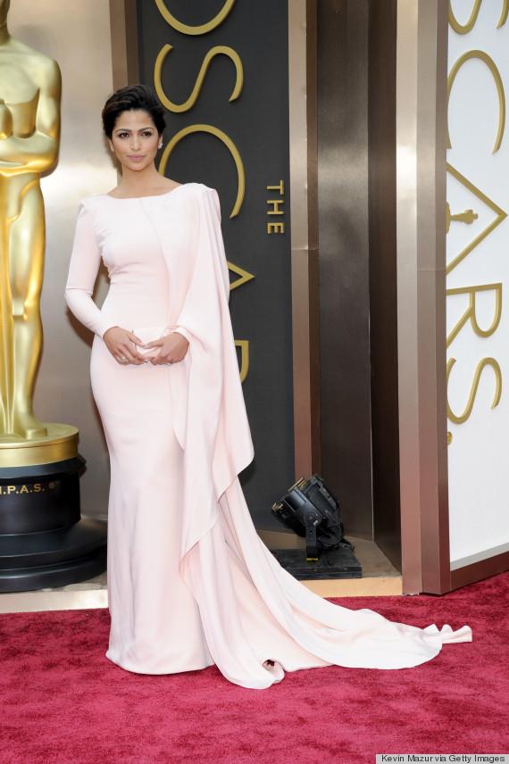camlia alves oscars pink dress 2014