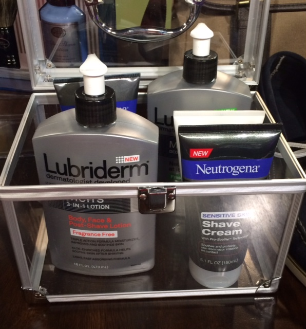 men lubriderm and neutogrena shave cream