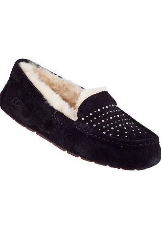 ANSLEY BLING SLIPPER BLACK SUEDE