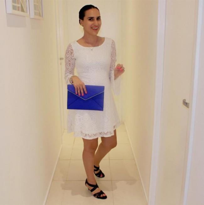 hm white lace dress