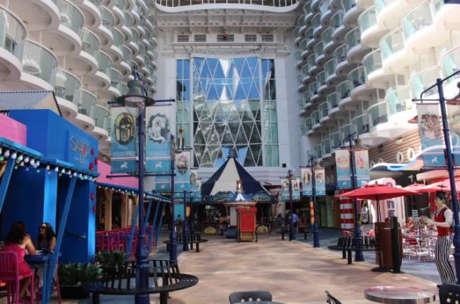 arcade on a cruise