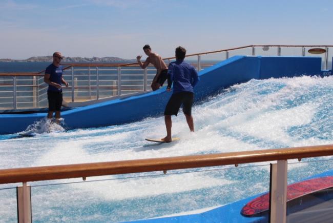 surfing royal caribbean