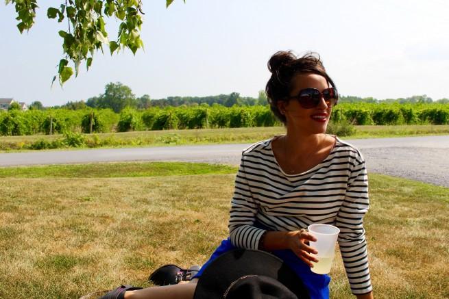 nautical stripe fashion blogger