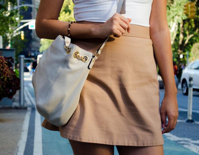 michael kors cream handbag