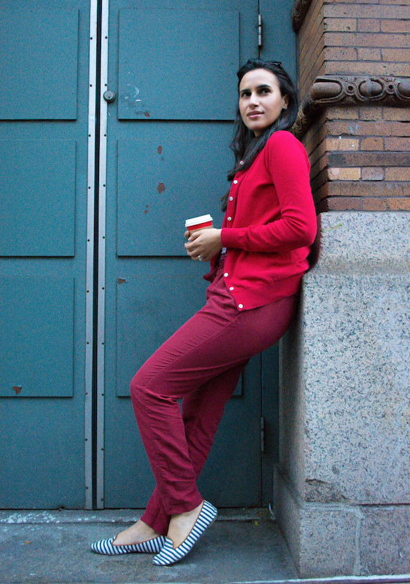 red on red outfit