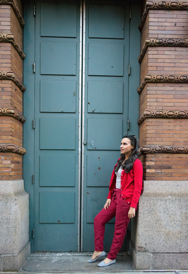 old navy red pants