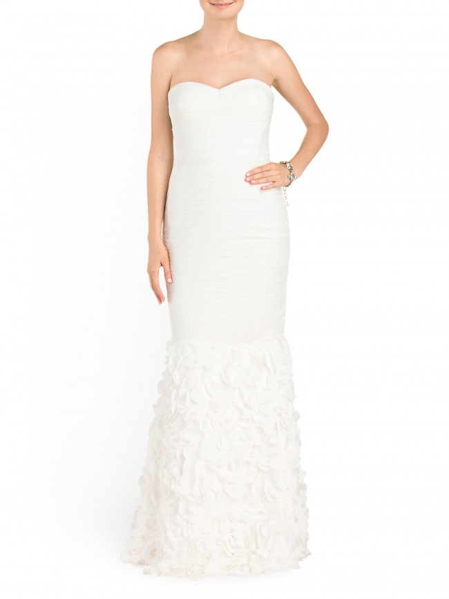 strapless t.j. maxx wedding dress