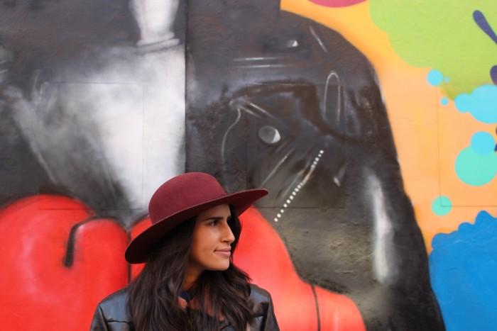 fashion blogger felt hat