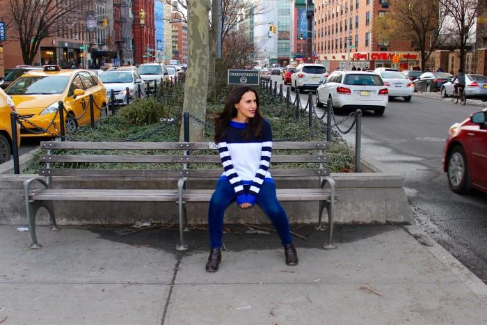 michael kors striped boatneck sweater