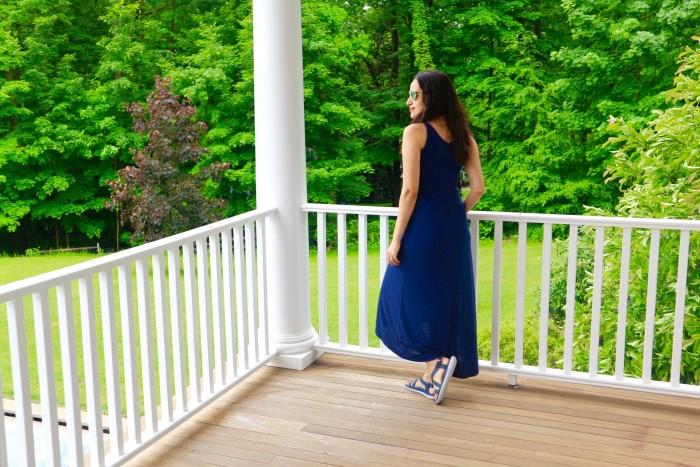 summer dress navy blue