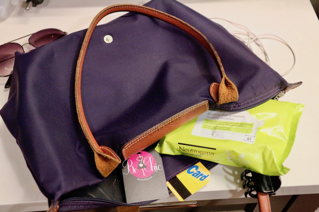what's in my bag neutrogena cleasning wipes